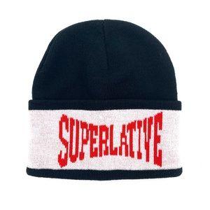 4/$25 WeSC Mens Superlative Black Knit Beanie NEW